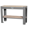 Picture of Workbench - Steel Frame - Wood Top - Wood - Shelf - 120 x 45 x 90 cm - Grey - DIV-WB02-KD-grey