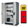 Picture of Fire Resistant Cabinet - Q-Line - Storage of Flammable Hazardous Materials - 119.3 x 61.5 x 195.3 cm - Red - IASE30001046-1