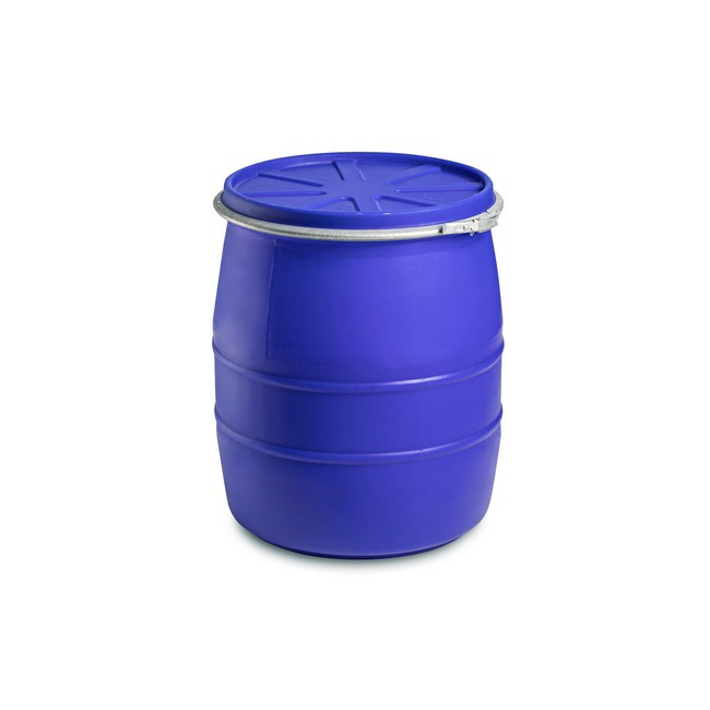 Picture of Plastic Drum with Lid and Clamp - 150L - Food Grade - PT150WL