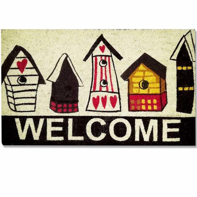 Picture of Design Coir Welcome Doormat - Houses - 700mm x 400mm [CMD00006]