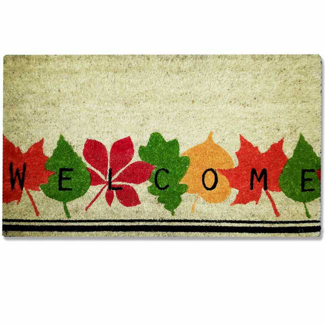 Picture of Doormat - Design Coir Welcome Leaves - 70 x 40 x 1.4 cm - CMD00005