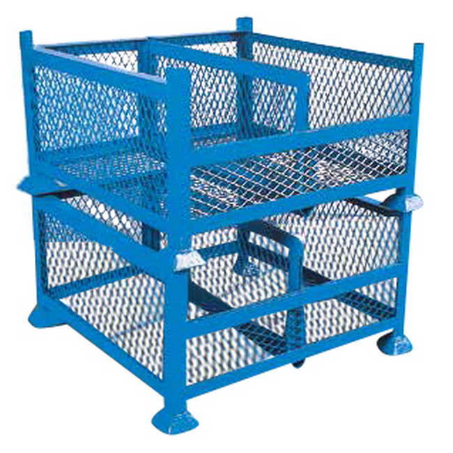 Picture of Stackable Cut-Away Steel Cage - Blue - 476Kg - STACKCAGE2