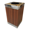 Picture of Wastebin - SS304 Stainless Steel and Wood Litter Bin - 900x510x510mm - WDB2263S