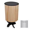 Picture of Litter Bin - Round SS430 Stainless Steel and Wood Wastebin - 760x400(Ø)mm - WDC2142S