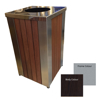 Picture of Wastebin - Powder Coated Stainless Steel and Wood Litter Bin - 900x510x510mm [WDA2563]