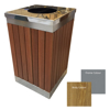 Picture of Wastebin -  Powder Coated Stainless Steel and Wood Litter Bin - 900x510x510mm - WDB2563