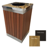 Picture of Wastebin - Powder Coated Steel and Wood Litter Bin - 900x510x510mm - WDB2663
