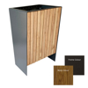 Picture of Litter Bin - Powder Coated Stainless Steel and Wood Wastebin - 800x400x500mm - WDD2553