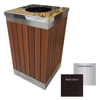 Picture of Wastebin - SS430 Stainless Steel and Wood Litter Bin - 900x510x510mm - WDB2163S
