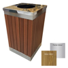 Picture of Wastebin - SS316 Stainless Steel and Wood Litter Bin - 900x510x510mm - WDB2363S
