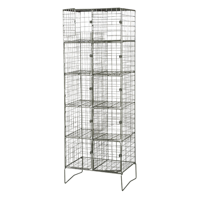 Picture of Wire Mesh Locker - Double - 10 Doors [18-60-45-10]