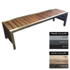 Picture of Mall Bench - Steel and Wood - Adj. Feet - 45x240x51cm - Colour Options - ML4661PC