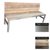 Picture of Slimline Bench - Stainless Steel 304 and Wood - Bolt Down - 45x180x49cm - Colour Options - SLB4242S