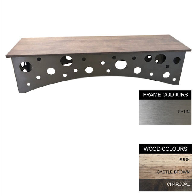 Picture of Swiss Bench - Stainless Steel 430 and Wood - Bolt Down - 45x180x46cm - Colour Options - SW4142S