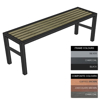 Picture of Slimline Bench - Steel and Composite - Adj. Feet - 45x150x54cm - Colour Options - SLO4631PC