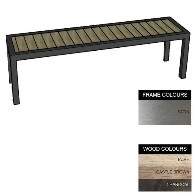 Picture of Facilities Bench - Stainless Steel 304 and Wood - Adj. Feet - 45x240x51cm - Colour Options - FL4261S