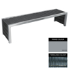 Picture of Contemporary Bench - Steel and Fibre Cane - Adj. Feet - 45x180x51cm - Colour Options - CM4641PC