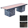 Picture of Gabion Bench - Steel and Wood - 45x180x49cm - Colour Options - GB4641PC