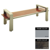 Picture of Modern Bench - Steel and Wood - Adj. Feet - 45x180x49cm - Colour Options - MD4641PC