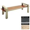 Picture of Modern Bench - Steel and Wood - Bolt Down - 45x180x49cm - Colour Options - MD4642PC