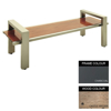 Picture of Modern Bench - Steel and Wood - Adj. Feet - 45x240x49cm - Colour Options - MD4661PC