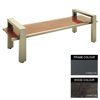Picture of Modern Bench - Steel and Wood - Bolt Down - 45x240x49cm - Colour Options - MD4662PC