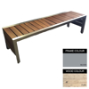 Picture of Mall Bench - Steel and Wood - Adj. Feet - 45x150x51cm - Colour Options - ML4631PC