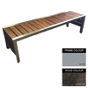 Picture of Mall Bench - Steel and Wood - Bolt Down - 45x150x51cm - Colour Options - ML4632PC