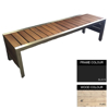 Picture of Mall Bench - Steel and Wood - Adj. Feet - 45x180x51cm - Colour Options - ML4641PC