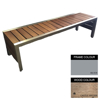 Picture of Mall Bench - Steel and Wood - Bolt Down - 45x180x51cm - Colour Options - ML4642PC