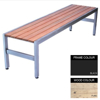 Picture of Slimline Bench - Steel and Wood - Adj. Feet - 45x150x45cm - Colour Options - SL4631PC
