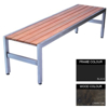 Picture of Slimline Bench - Steel and Wood - Adj. Feet - 45x180x45cm - Colour Options - SL4641PC
