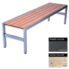 Picture of Slimline Bench - Steel and Wood - Adj. Feet - 45x240x45cm - Colour Options - SL4661PC