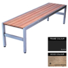 Picture of Slimline Bench - Steel and Wood - Bolt Down - 45x240x45cm - Colour Options - SL4662PC