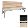 Picture of Slimline Bench - Steel and Wood - Adj. Feet - 45x180x49cm - Colour Options - SLB4641PC