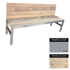 Picture of Slimline Bench - Steel and Wood - Bolt Down - 45x180x49cm - Colour Options - SLB4642PC