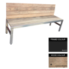 Picture of Slimline Bench - Steel and Wood - Adj. Feet - 45x240x49cm - Colour Options - SLB4661PC