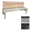 Picture of Slimline Bench - Steel and Wood - Bolt Down - 45x240x49cm - Colour Options - SLB4662PC