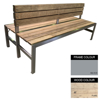 Picture of Slimline Bench - Steel and Wood - Adj. Feet - 45x180x98cm - Colour Options - SLBD4641PC