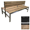 Picture of Slimline Bench - Steel and Wood - Bolt Down - 45x180x98cm - Colour Options - SLBD4642PC