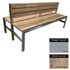 Picture of Slimline Bench - Steel and Wood - Bolt Down - 45x240x98cm - Colour Options - SLBD4662PC