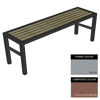 Picture of Slimline Bench - Steel and Composite - Adj. Feet - 45x180x54cm - Colour Options - SLO4641PC