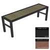 Picture of Slimline Bench - Steel and Composite - Adj. Feet - 45x240x54cm - Colour Options - SLO4661PC
