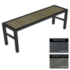 Picture of Slimline Bench - Steel and Composite - Bolt Dn- 45x240x54cm - Colour Options - SLO4662PC