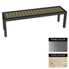 Picture of Facilities Bench - Stainless Steel 304 and Wood - Adj. Feet - 45x180x51cm - Colour Options - FL4241S