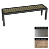 Picture of Facilities Bench - Stainless Steel 304 and Wood - Bolt Down - 45x180x51cm - Colour Options - FL4242S