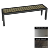 Picture of Facilities Bench - Stainless Steel 304 and Wood - Bolt Down - 45x240x51cm - Colour Options - FL4262S
