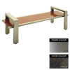 Picture of Modern Bench - Stainless Steel 304 and Wood - Adj. Feet - 45x180x49cm - Colour Options - MD4241S