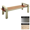 Picture of Modern Bench - Stainless Steel 304 and Wood - Bolt Down - 45x180x49cm - Colour Options - MD4242S