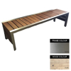 Picture of Mall Bench - Stainless Steel 304 and Wood - Adj. Feet - 45x180x51cm - Colour Options - ML4241S
